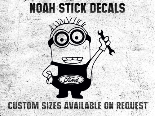 Ford Minions Funny Car Sticker For Bumper Window Windscreen Laptop Decal S0024