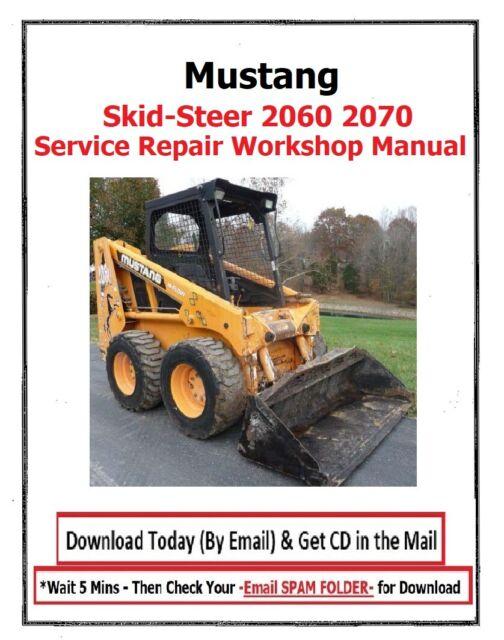 OEM Factory Mustang 2060 2070 Skid Steer Loader Service Repair Shop Manual  for sale online | eBay | Mustang Skid Loader Wiring Diagram |  | eBay