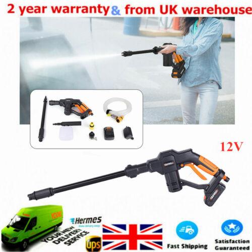 12V Portable Pressure Cleaner Cordless Pressure Spray Gun Washer+Battery Kit UK