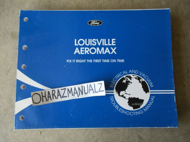 1996 Ford Louisville Aeromax Wiring Diagrams Manual Oem