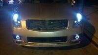 Halo Angel Eye Fog Lamps Driving Lights For 2004-2008 Nissan Maxima Body Kit