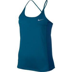 cf82afd2e4170d New! Nike Dry Women s Dri-Fit Miler Running Tank Top Industrial Blue ...