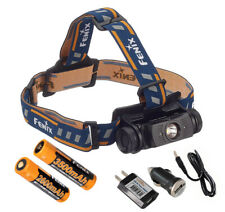 AC//Car Fenix HL55 900 Lumen Headlamp w// 2x 3500mAh 18650 /& Smart Charger