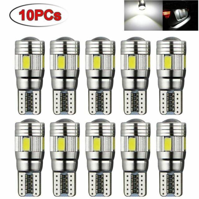 10Pcs Veilleuses LED W5W T10 Canbus ANTI ERREUR BLANC XENON 6 SMD voiture moto