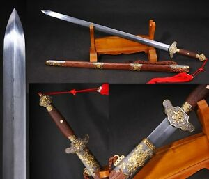 "High Quality Chinese Sword /""Han Jian/"" Alloy Fitting High Manganese Steel #520 劍"