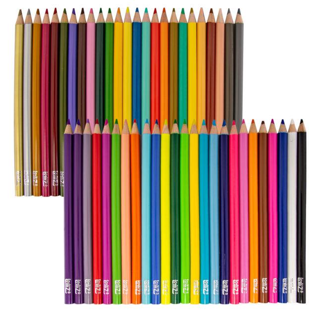 44pk Bright Colored Pencils Set Kids Adult Coloring Books ...