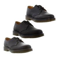 Dr Martens 1461 PW Mens Womens Plain Welt Black Brown Leather Shoes Size 4-13