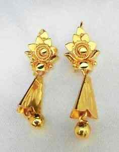 Image Is Loading 22k 24k Gold Plated Traditional South Indian Hanging