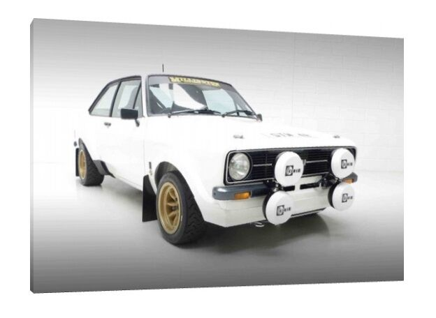 MK1 Ford Escort Framed Picture Print Art 30x20 Inch Canvas