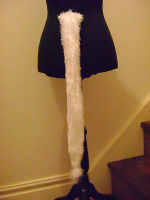 "FäHig White Tail Faux Fur Long 28"" Fancy Dress Kids & Adults"