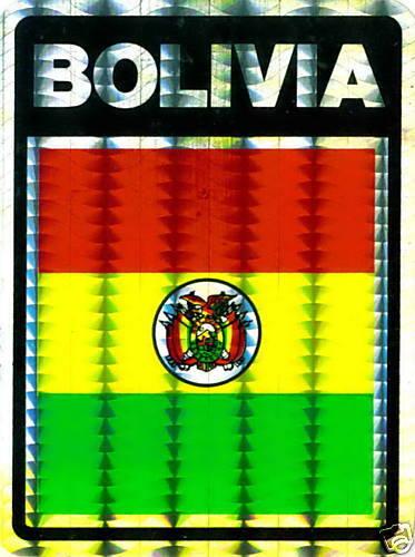 Flag Stickers LOT NEW Bulibiya República de Bolivia
