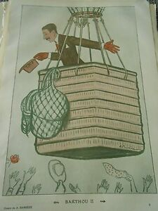 Barthou-II-nacelle-ballon-dessin-de-A-Barrere-Print-Humour