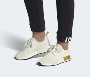 Details about ADIDAS WOMEN'S ORIGINALS NMD R1 WHITE AND GOLD TENNIS SHOES US 9 RARE!