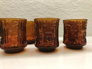 Glass-ARTICA-Amber-Old-Fashioned-Rocks-Glasses-9-oz-3-Geometric