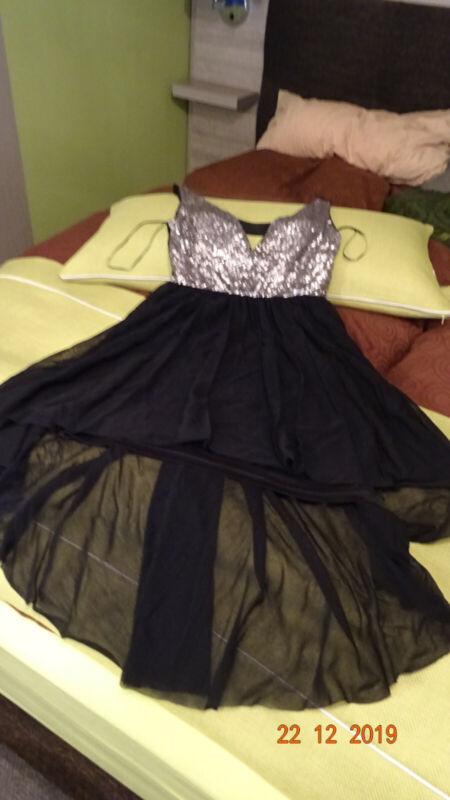 Willensstark Forever, Schwarzes Kleid Mit Pailletten, Silber, Gr. Xs, Super Zustand Duftendes Aroma
