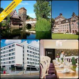 Kurzreise-Urlaub-Nuernberg-4-Tage-2-Personen-4-Hotel-Reisegutschein-Staedtereise