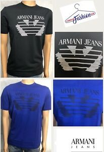 Brand-New-Mens-039-Armani-Jeans-Crew-neck-T-shirt-6Y6T66-6JPFZ-Short-Sleeve
