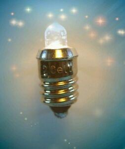 EDISON SCREW BASE LED 222 112 E10 BASE 1.5-3 VOLT BRIGHT 65 LUMEN 6 PACK SET !