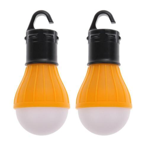 2 PCS Outdoor Hanging 3LED Camping Tent Light Bulb Fishing Lantern Lamp 7E