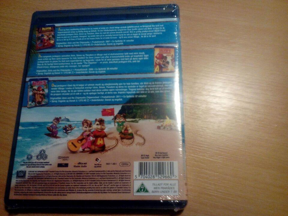 Alvin og de frække jordergern 1 - 2 - 3, Blu-ray, animation