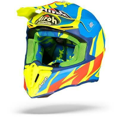 Free P/&P Airoh Twist Great Blue Matt Motocross MX Full Face Motorcycle Helmet