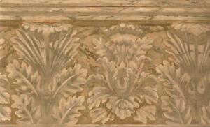 Wallpaper-Border-Large-Faux-Terracotta-Acnthus-Leaf-Architectural-Molding
