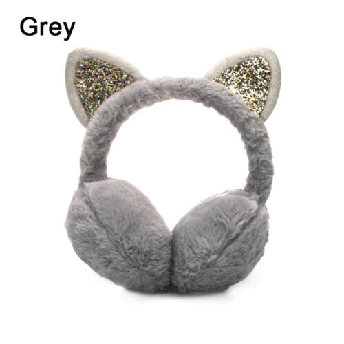 Women Girls Winter Warm Earmuffs Cute Cat Ears Ear Warmers for Cold Weather