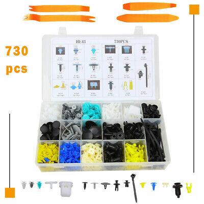 730pcs Car Door Body Push Pin Rivet Trim Clip Retainer Fastener Panel Moulding