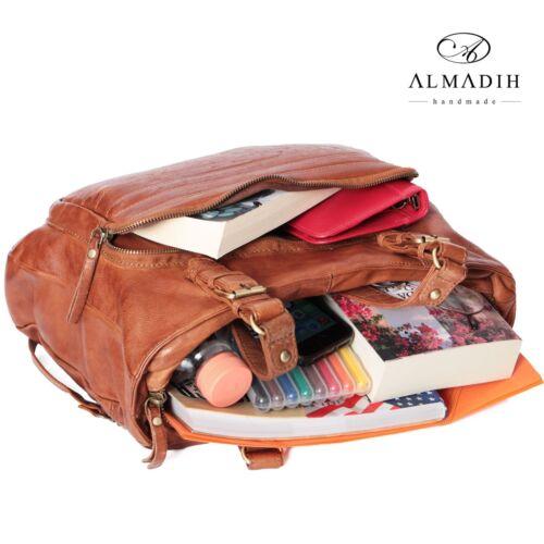 Almadih manntasche Braun Schultertasche Handtasche Leder M33 Umhängetasche 1r5ZqUx1nw