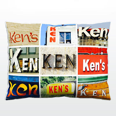 Personalized Pillowcase featuring JASON in photo of actual sign letters