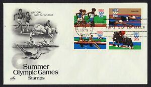 #1794a 15c 1980 Verano Olimpiadas, Arte Artesanía [1] FDC Cualquier 4=