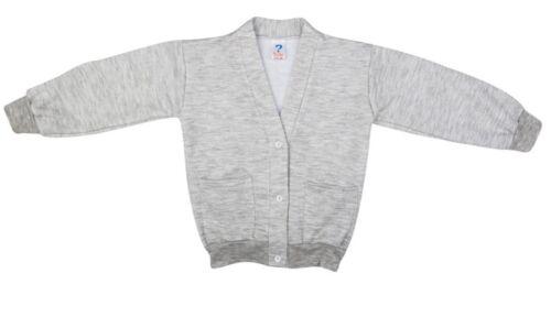 Girls School Uniform Fleece Sweater Kids V-Neck Buttoned Cardigan 2-16yrs