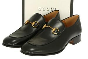 bf68f277ca5b NEW GUCCI MEN S LUXURY BLACK LEATHER HORSEBIT DETAILS LOAFERS SHOES ...