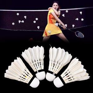 1/6/12PCS Training Shuttlecocks Goose Feather Birdies Ball Game Badminton Sports