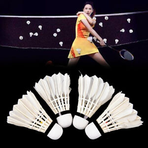 1/6/12PCS Training Shuttlecocks Goose Feather Birdies Ball Game Badminton Sports