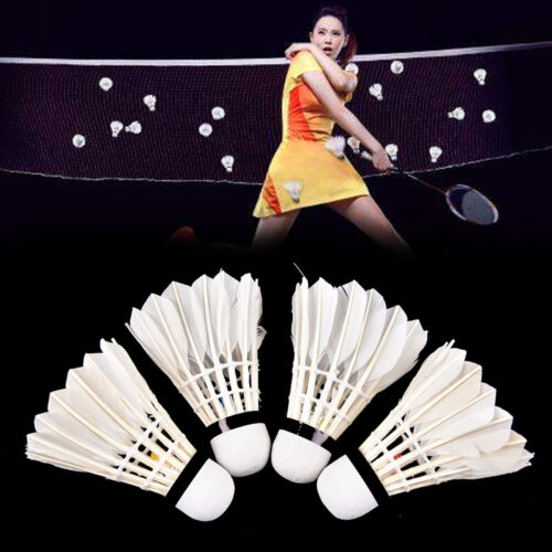 1//6//12Pcs Feather Badminton Outdoor Sports Exercise Sport Gym Game Tool Supply