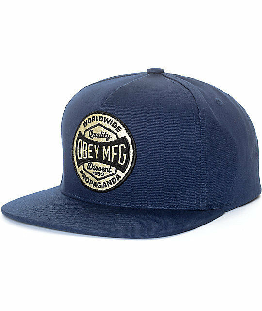 d0acd3f1130 Cap Snapback OBEY Worldwide Dissent NVY Men Blue Purple One Size for ...