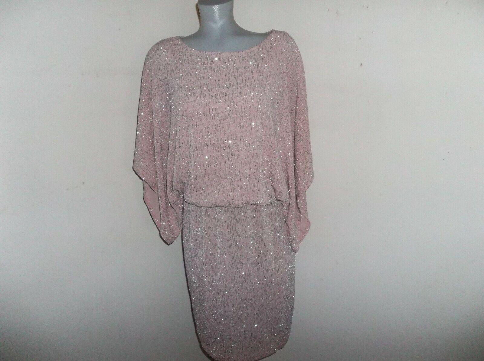 JESSICA HOWARD Pink & Silver Blouson Dressy Dress Size 10 Mother of Bride EUC