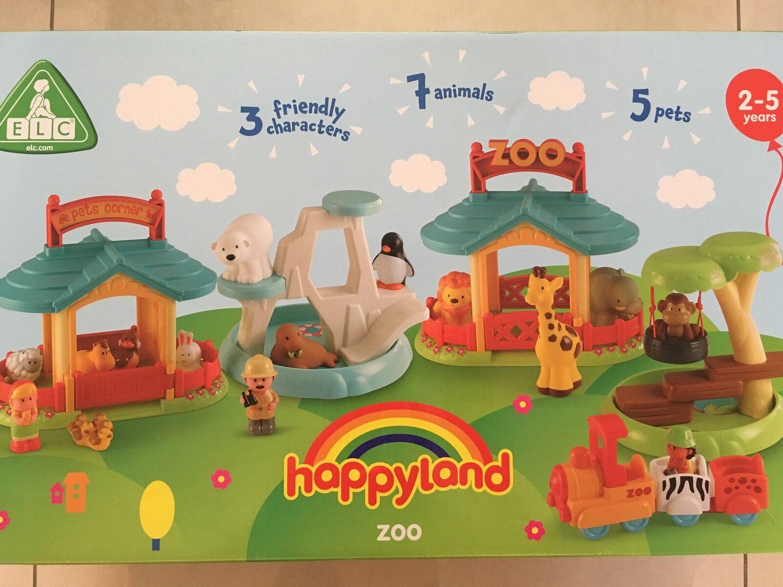 ELC Happyland Zoo Set Wild Safari Animals Swing Train Figures  - New