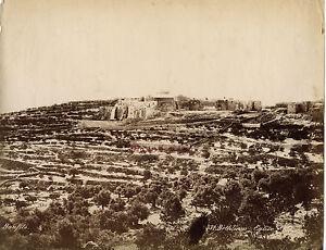 Betlemme Chiesa Palestina Foto Bonfils, Albumina Vintage C 1870