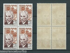CELEBRITES-1962-YT-1349-bloc-de-4-TIMBRES-NEUFS-LUXE