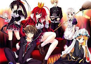 Poster A3 High School DxD Rias Gremory Asia Ecchi Manga Anime Cartel 01
