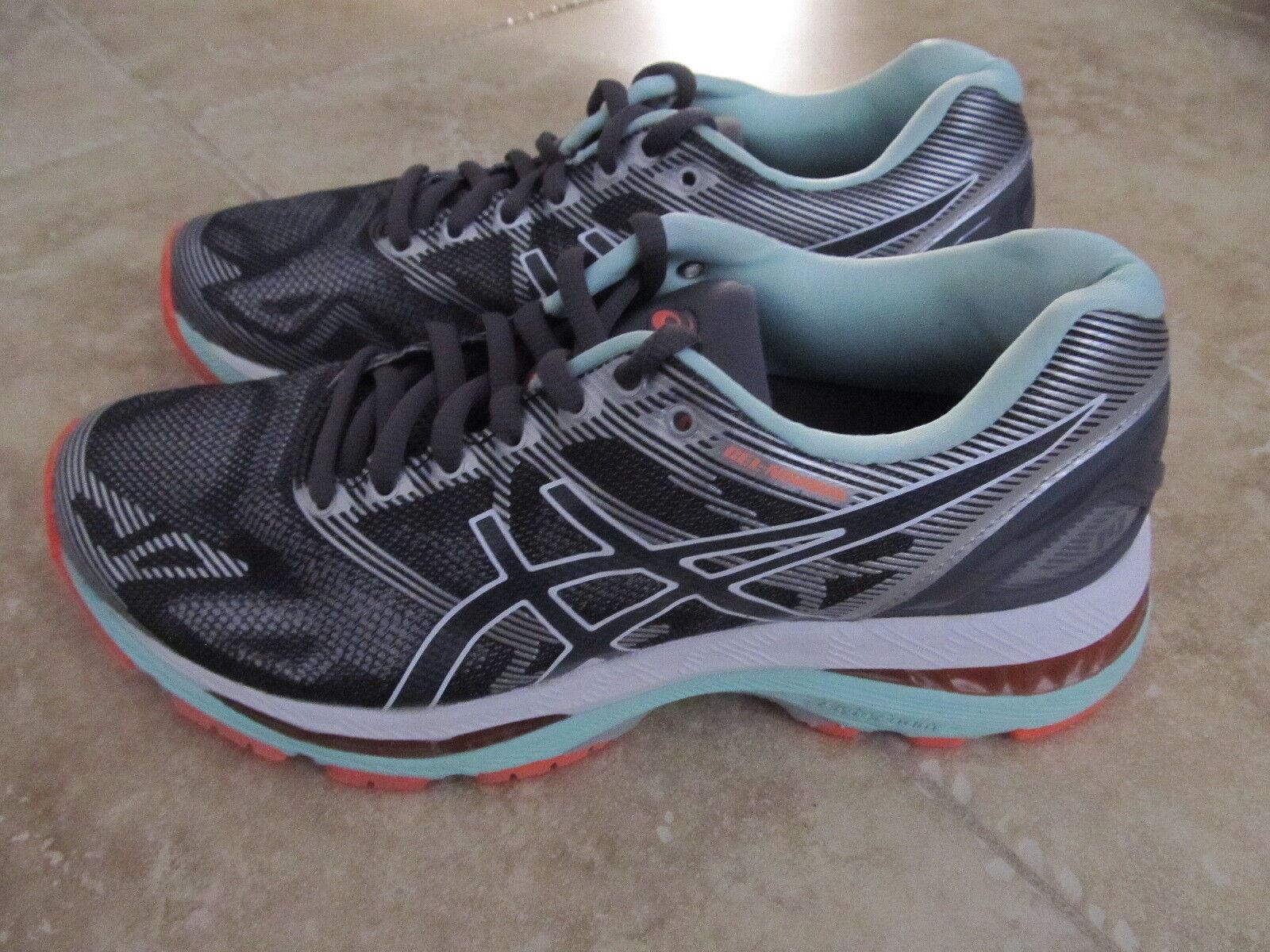 Women's Asics Gel Nimbus 19 Runinng Shoes  Carbon White Flash Coral Comfortable Seasonal clearance sale