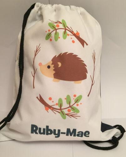 PE Dance -Hedgehog Design Christmas Gif PERSONALISED Gym BAG for Sports Swim
