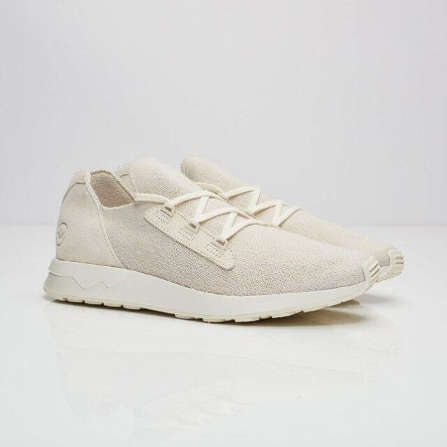 Adidas Consortium x Wings And Horns Men ZX Flux Primeknit white off white BB3752