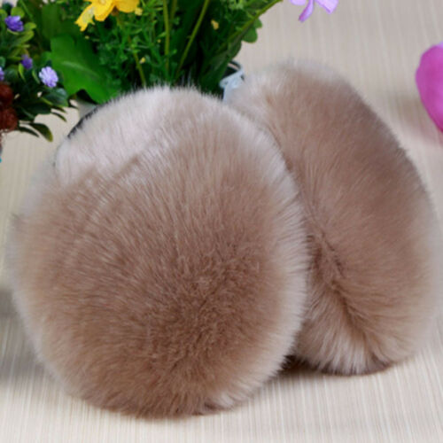Solid Ear Covers Big Ball Styling Winter Thicken Plush Faux Fur Warmer Earmuff
