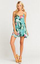 Show Me Your MuMu Ladies Carousel Lace Up Kauai Hugs Cloud Mini Dress M NWT