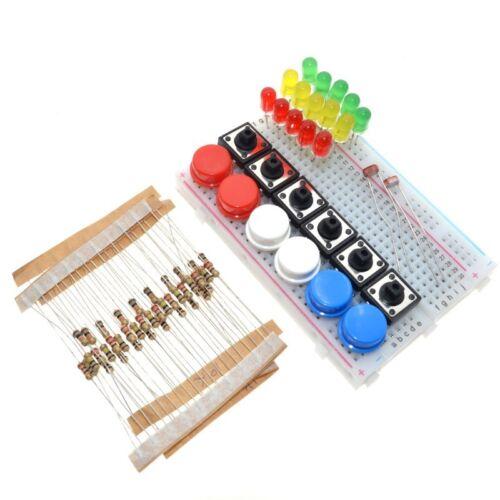 Starter Kit UNO R3 Mini breadboard DEL Jumper Draht Schaltknopf für Arduino