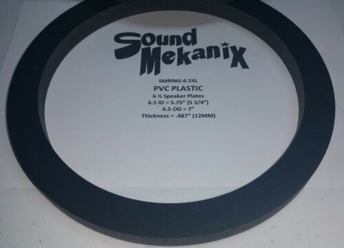 """6.5 X-LARGE 12MM/"""" Thick One Pair Made in USA PVC Plastic Speaker Rings"""