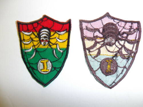 b5333 RVN Vietnam National Field Force Police Patch Spider I red yellow IR6B